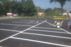 New Layout of Parking Lot Lines