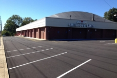 Newly Paved Parking Lot