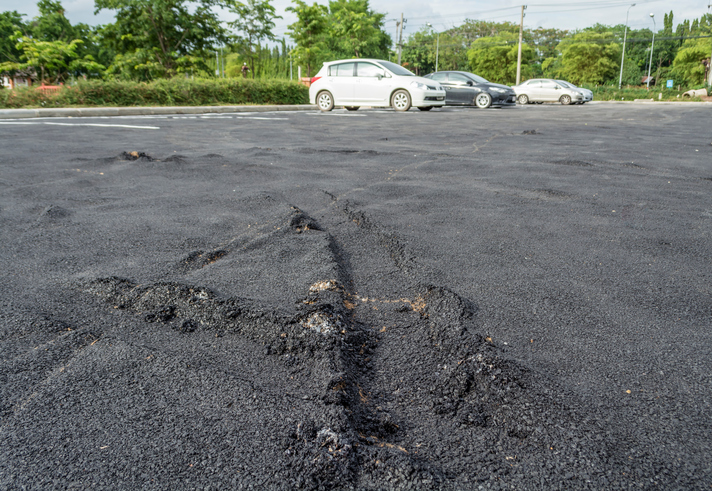 Serious long island parking lot repair needed here - Dumor Construction, Inc.